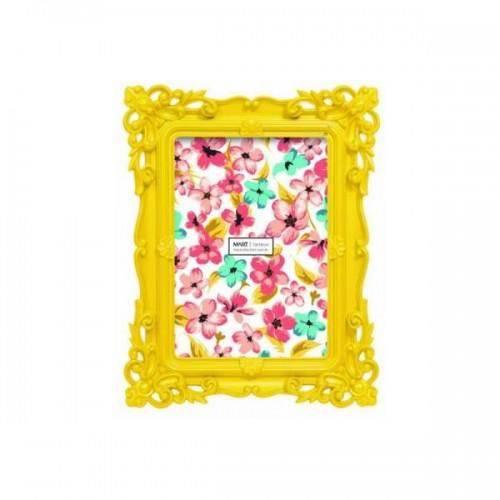 Porta Retrato Retro Amarelo 15x20 Cm