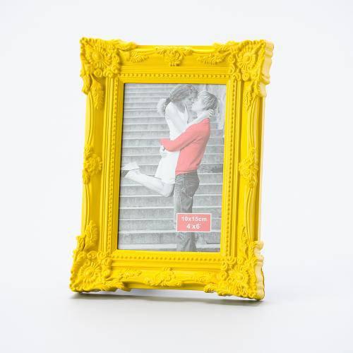 Porta Retrato Retro Amarelo