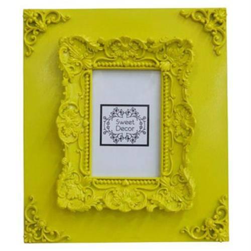Porta-Retrato - Retrô Amarelo