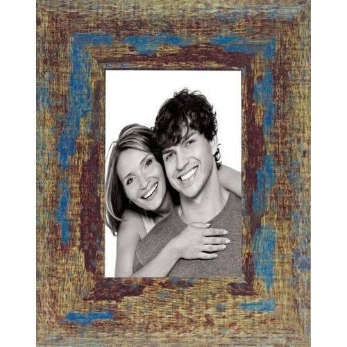 Porta Retrato Rustic Azul - 10X15