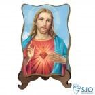 Porta-Retrato Sagrado Coração de Jesus - Modelo 1   SJO Artigos Religiosos