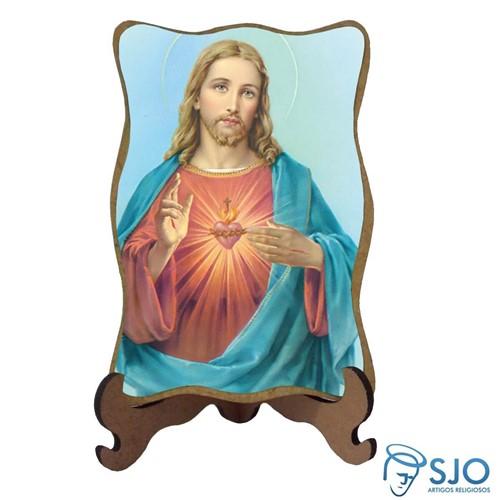 Porta-Retrato Sagrado Coração de Jesus - Modelo 3   SJO Artigos Religiosos