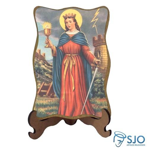 Porta-Retrato Santa Bárbara - Modelo 2 | SJO Artigos Religiosos