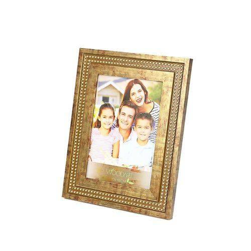 Porta Retrato Strass 13cmx18cm Rojemac Dourado
