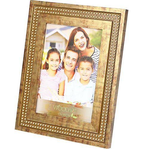 Porta Retrato Strass 13x18 - Woodart Marrom