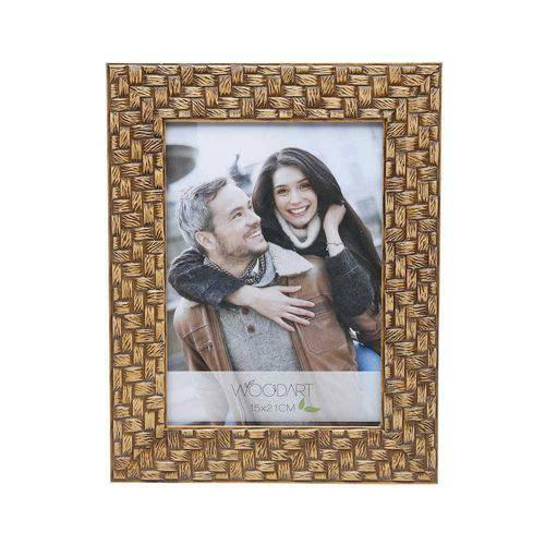 Porta Retrato Trançado Marrom 20cmx25cm Rojemac