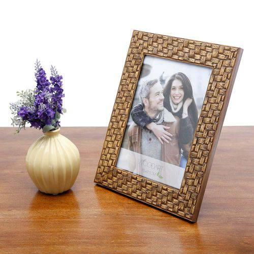 Porta Retrato Trançado Marrom 10X15 - F9-11849