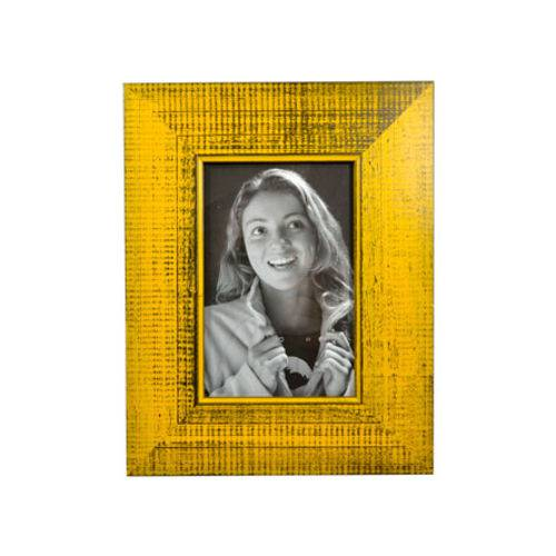 Porta Retrato Trancoso Amarelo 10x15 Cm Foto Moldura Mesa