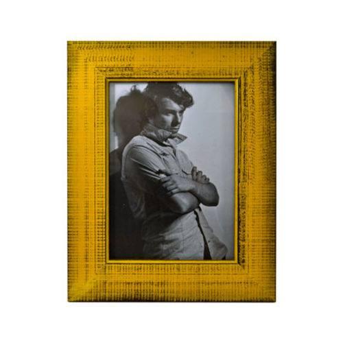 Porta Retrato Trancoso Amarelo 15x21 Cm Foto Moldura Mesa