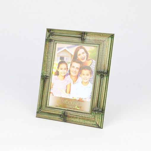 Porta Retrato Verde para 1 Foto 10x15 Bambu Woodart