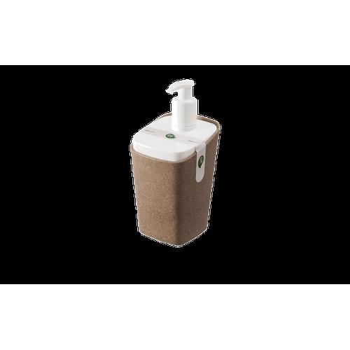 Porta-Sabonete Líquido - Bios 8,2 X 8,2 X 17 Cm 350 Ml Bios com Branco Coza