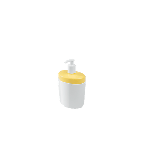 Porta Sabonete Líquido Full 450 Ml 10,6 X 7,7 X 18,9 Cm Amarelo Coza