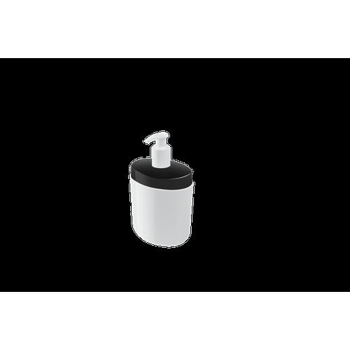 Porta Sabonete Líquido Full 450 Ml 10,6 X 7,7 X 18,9 Cm Preto Coza