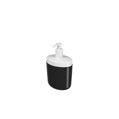 Porta-sabonete Líquido Full 450 Ml - PT 10,6 X 7,7 X 18,9 Cm Preto Coza