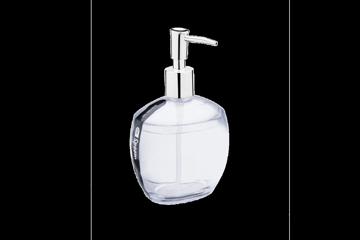 Porta-sabonete Líquido Spoom - CR 10,6 X 8,5 X 17,2 Cm 350 Ml Cristal Coza