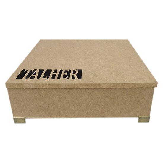 Porta Talheres Quadrado em MDF com Dobradiça e Pés 24,7x24,7x7,2cm - Palácio da Arte