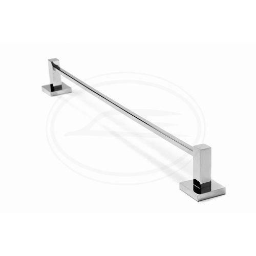 Porta Toalha de Banho Simples com 45cm Inox 304 Linha Quadrada