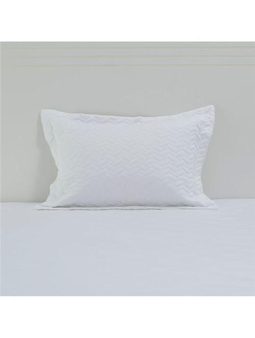 Porta Travesseiro Matelassado Levi Branco 50X70cm
