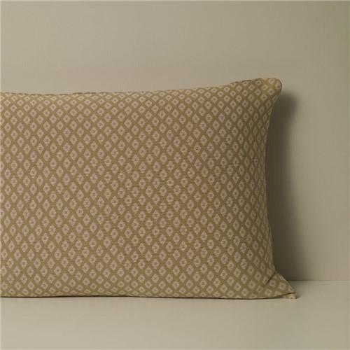 Porta Travesseiro Mini Diamound - Verde/areia - 50x70