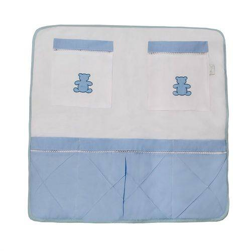 Porta Treco de Berço Realeza Azul Bebê
