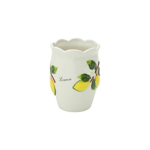 Porta Utensilios em Cerâmica Bon Gourmet Lemons 11x11cm