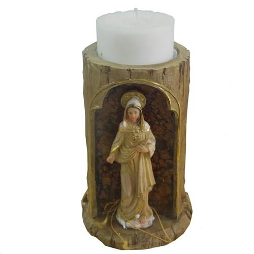 Porta Vela de Resina do Sagrado Coração de Maria | SJO Artigos Religiosos