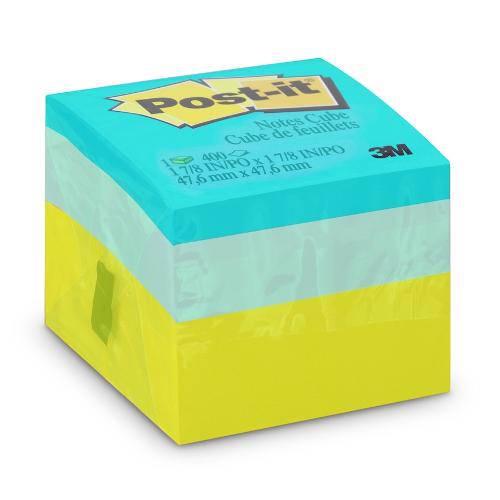 Post-It Cubo Verde 47,6X47,6MM C/400 Fls 3M