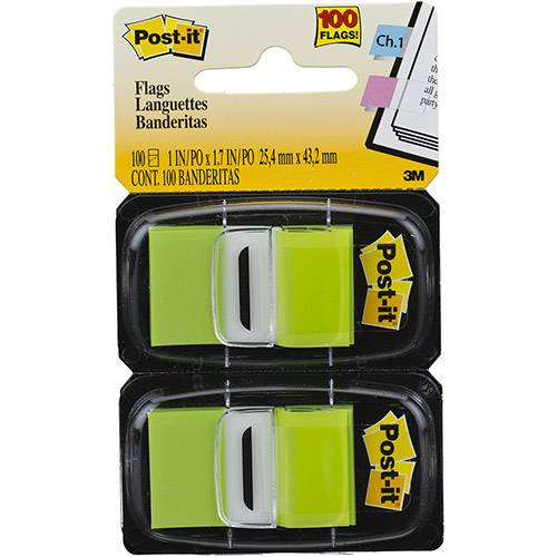 Post-It Flags Verde 100 Folhas - 3M
