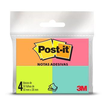 Post-it Tropical 4 Blocos com 50 Folhas