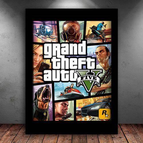 Poster com Moldura Quadro GTA