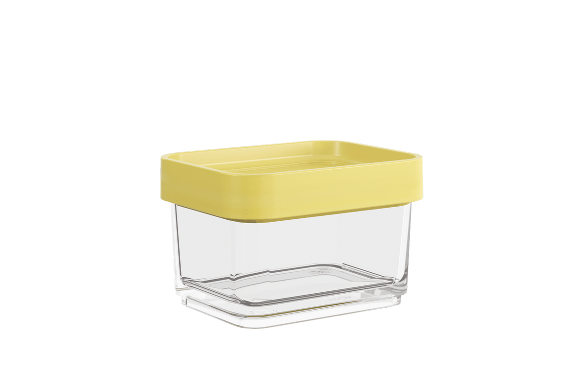 Pote Clear Micro 100ml 6,2x8x5cm Amarelo Soft Coza