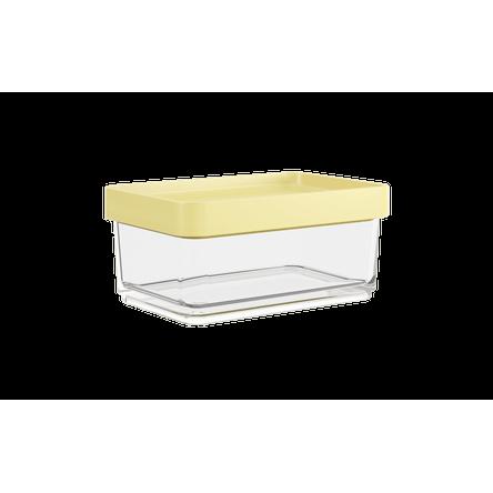 Pote Clear Mini 200ml 7,9x11,7x5cm Amarelo Soft Coza