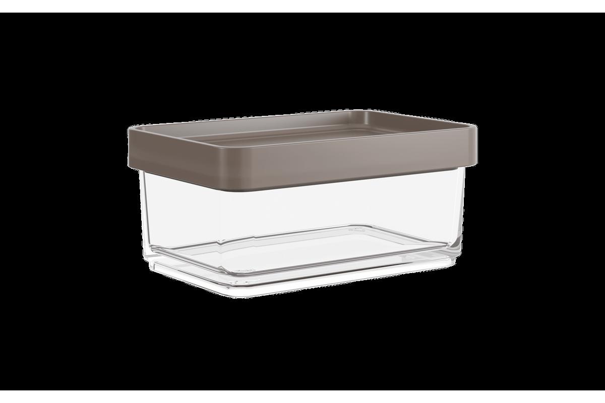 Pote Clear Mini 200ml 7,9x11,7x5cm Warm Gray Coza