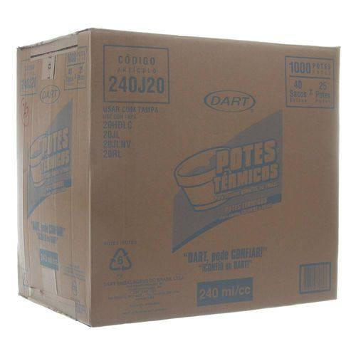 Pote de Isopor com Capacidade de 240ml Caixa com 1000 Unidades Dart