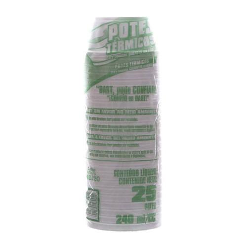 Pote de Isopor com Capacidade de 240ml Pacote com 25 Unidades Dart