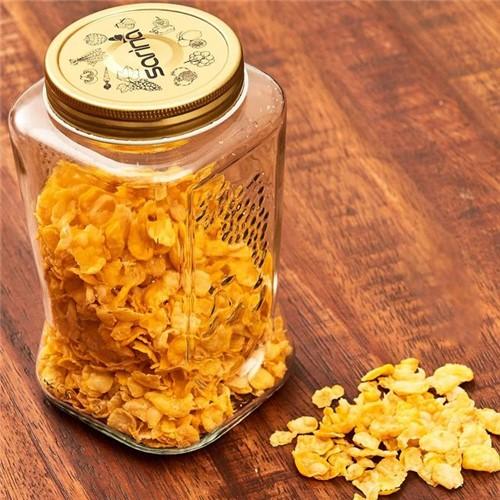 Pote de Vidro 1,1 L Organic Made Havan Dourado Dourado