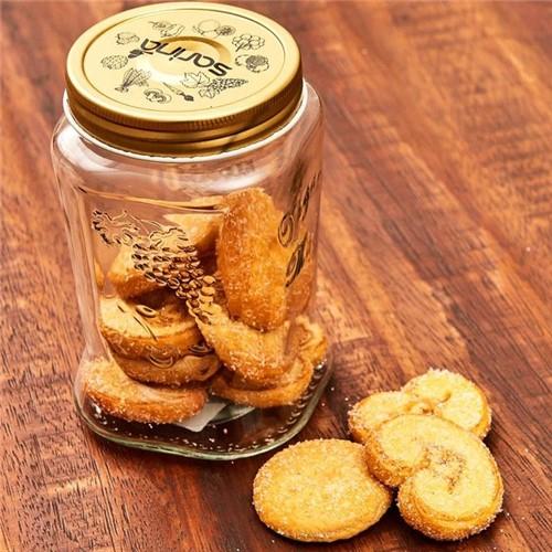 Pote de Vidro 850Ml Organic Made Havan Dourado Dourado