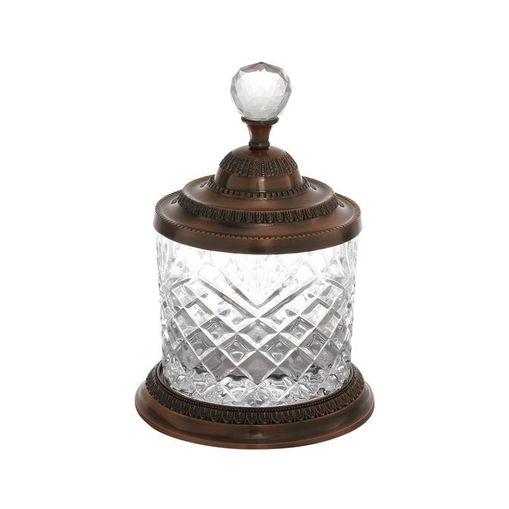 Pote Decorativo de Zamac Cristal Bronze 3974 Lyor