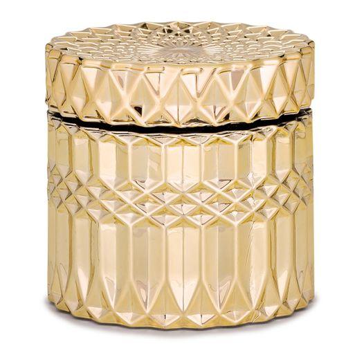 Pote Dourado em Vidro 10,5x10,5cm