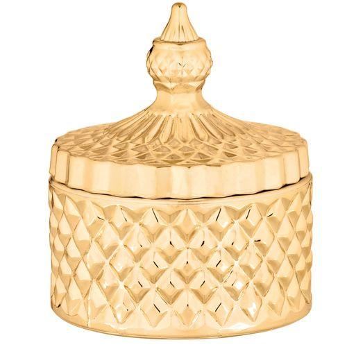 Pote Dourado em Vidro 8x12cm