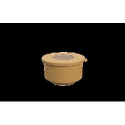 Pote Hoop 500ml 12,4x13,2x7,2cm Amarelo Quente Coza