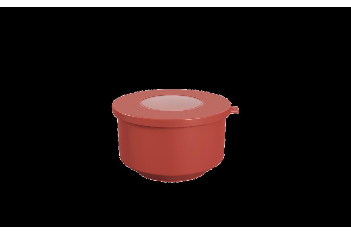 Pote Hoop 500ml 12,4x13,2x7,2cm Vermelho Goiaba Coza