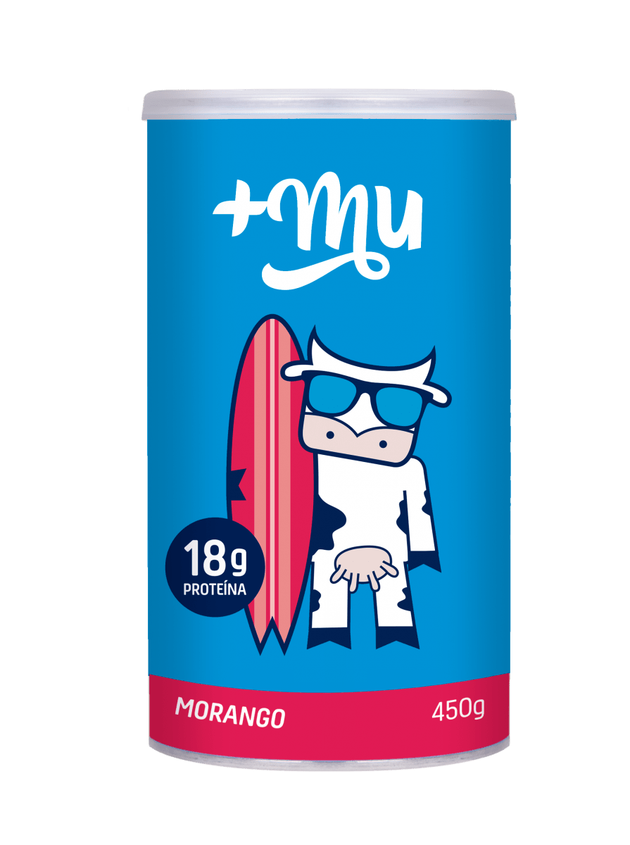 Pote Morango Tradicional 450g - +Mu