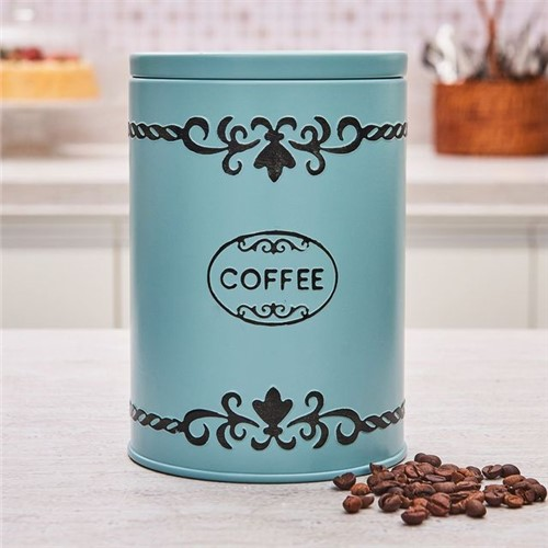 Pote para Mantimento Coffe Azul Claro Havan Ferro