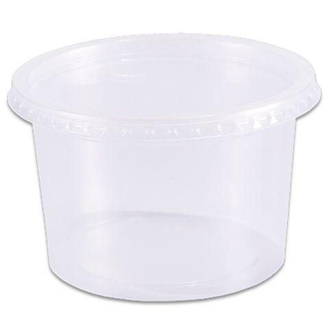 Pote Plástico Redondo Transparente Freezer/Microondas 1000ml C/24 - Prafesta
