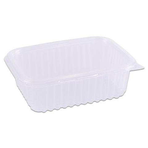 Pote Plástico Retangular Transparente Freezer/Microondas 500ml C/24 - Prafesta
