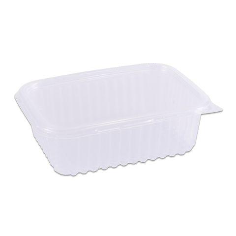 Pote Plástico Retangular Transparente Freezer/Microondas 250ml C/24 - Prafesta