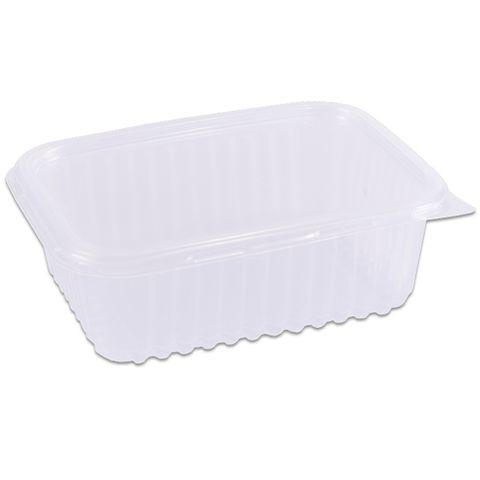 Pote Plástico Retangular Transparente Freezer/Microondas 750ml C/24 - Prafesta