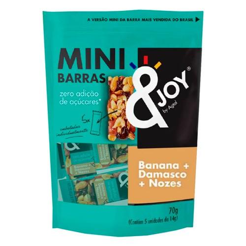 Pouch Mini Barras de Nuts &Joy Agtal Banana, Damasco e Nozes Zero Adição de Açúcares 70g