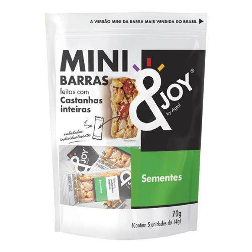Pouch Mini Barras de Nuts Sementes 70g - Agtal &joy